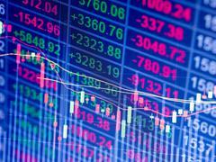 stock chart - stock photo