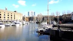 St Katharine's Dock London 4 Stock Footage