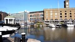 St Katharine's Dock London 5 Stock Footage