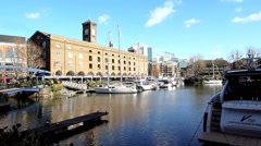 St Katharine's Dock London 9 Stock Footage