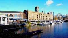 St Katharine's Dock London 7 Stock Footage