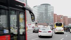Cars traffic at Berlin Potsdamer Platz Stock Footage
