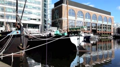 St Katharine's Dock London 12 Stock Footage