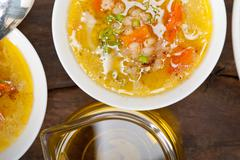 Stock Photo of Syrian barley broth soup Aleppo style