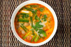 Thai Tom Yam traditional soup - stock photo