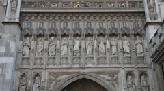 Westminster Abbey  London United Kingdom 4 - stock footage