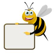 Bee Sign Stock Illustration