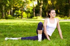 Stock Photo of recreational exercise