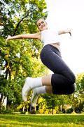 recreational exercise - stock photo