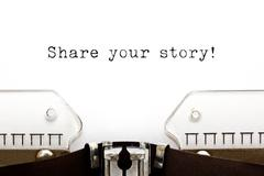 Share Your Story Typewriter - stock photo