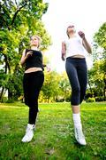 Stock Photo of recreational running