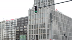People, cars traffic at Berlin Potsd Stock Footage