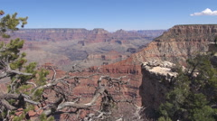 Famous Grand Canyon formation West Rim landmark arid place national valley day Stock Footage