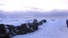 Snowy Bridge Between Two Continents Stock Footage