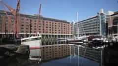 St Katharine's Dock London 2 Stock Footage