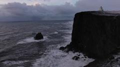 Vik Lighthouse Timelapse Stock Footage