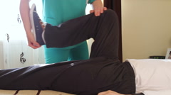 Stock Video Footage of Physical therapist working with patient