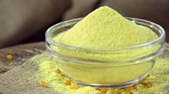Rotating Cornmeal (not loopable) Stock Footage