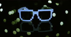 Sonnenbrille Awkward Glow Green 1 - stock footage