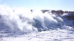 NiagaraFalls USA FrozenFalls 13svv Stock Footage