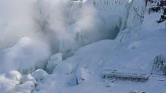 NiagaraFalls USA FrozenFalls 04svv(P1) Stock Footage
