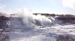 NiagaraFalls USA FrozenFalls 12svv Stock Footage