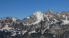 Mountain with visible alpine folds Stock Photos