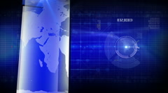 Generic background blue LOOP Stock Footage