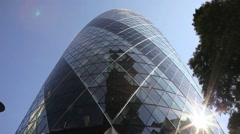The Gherkin Building London 3 Stock Footage