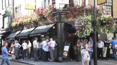 The  Dog and Duck Pub in Soho London Stock Footage