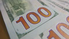 One Hundred Dollar Bills, Back Side, $100 Stock Footage