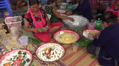 Making candy in thailand Stock Footage