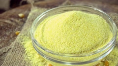 Portion of Cornmeal (not loopable) Stock Footage