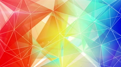 abstract triangle geometrical colorful background loop 4k (4096x2304) - stock footage