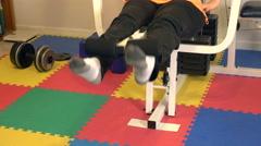 4K leg lift exercise Stock Footage