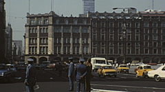 Mexico city 1975: police men driving the traffic Stock Footage