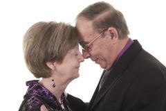 Stock Photo of Senior Couple Isolated on a white Background