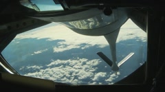 Royal Canadian Air Force CF-18 Hornet Air Refueling - stock footage