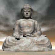 Buddha - 3D render Stock Illustration