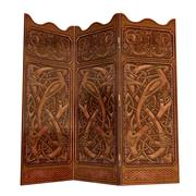 Old wooden screen - 3D render - stock illustration
