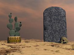 Tombstone - 3D render Stock Illustration