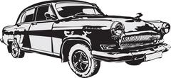 Russian of a retro car vector Stock Illustration