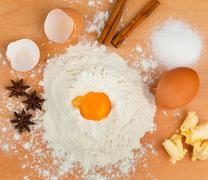 ingredients for baking. christmas cookies - stock photo