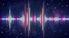 Multicolor digital equalizer loop Stock Footage