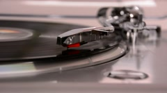 Record player (closeup) Stock Footage