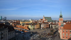 Castle Square in Warsaw Stock Footage