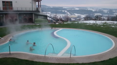 Thermal baths Stock Footage