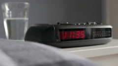 Digital Alarm Clock, 11:35am, tracking in Stock Footage