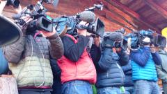 Camerateams at work Stock Footage
