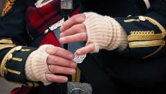 Hands Playing The Bagpipes Stock Footage